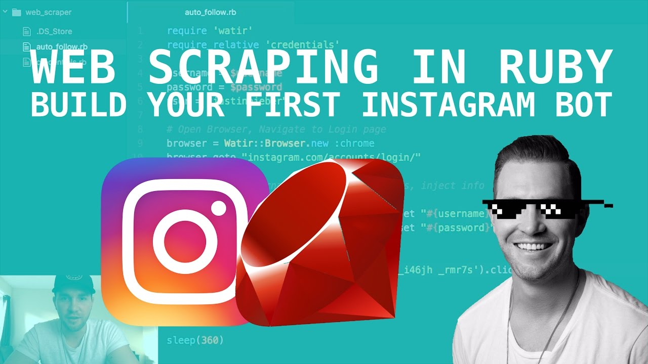 BUILD AN INSTAGRAM BOT (AUTO-FOLLOW) pt 1
