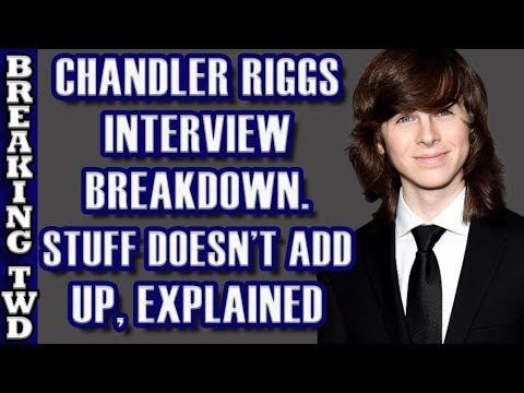 BREAKDOWN Chandler Riggs's Honest  Gimple's Words  The Walking Dead Season 8 Episode 8