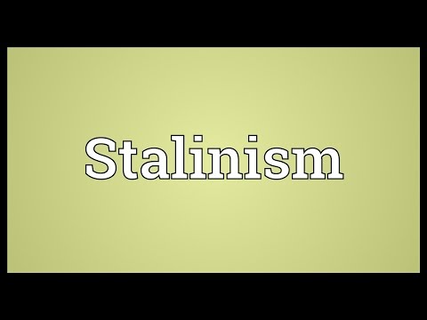 Stalinism Meaning