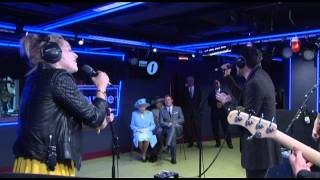 The Script perform for The Queen