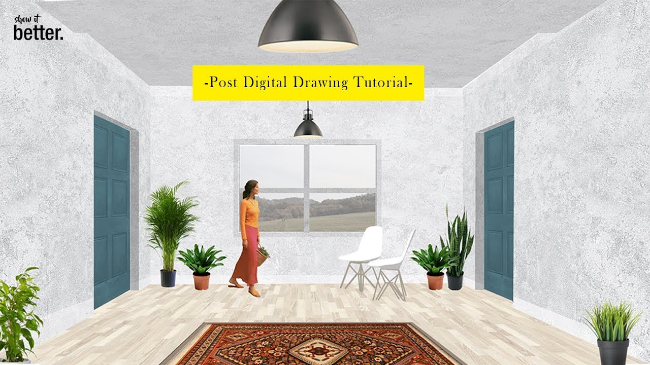Post Digital Interior Architecture Drawing Tutorial Youtube