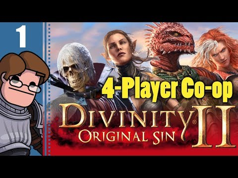 Let's Play Divinity: Original Sin 2 Four Player Co-op Part 1 - Fane, Sebille, Lohse, and Red Prince