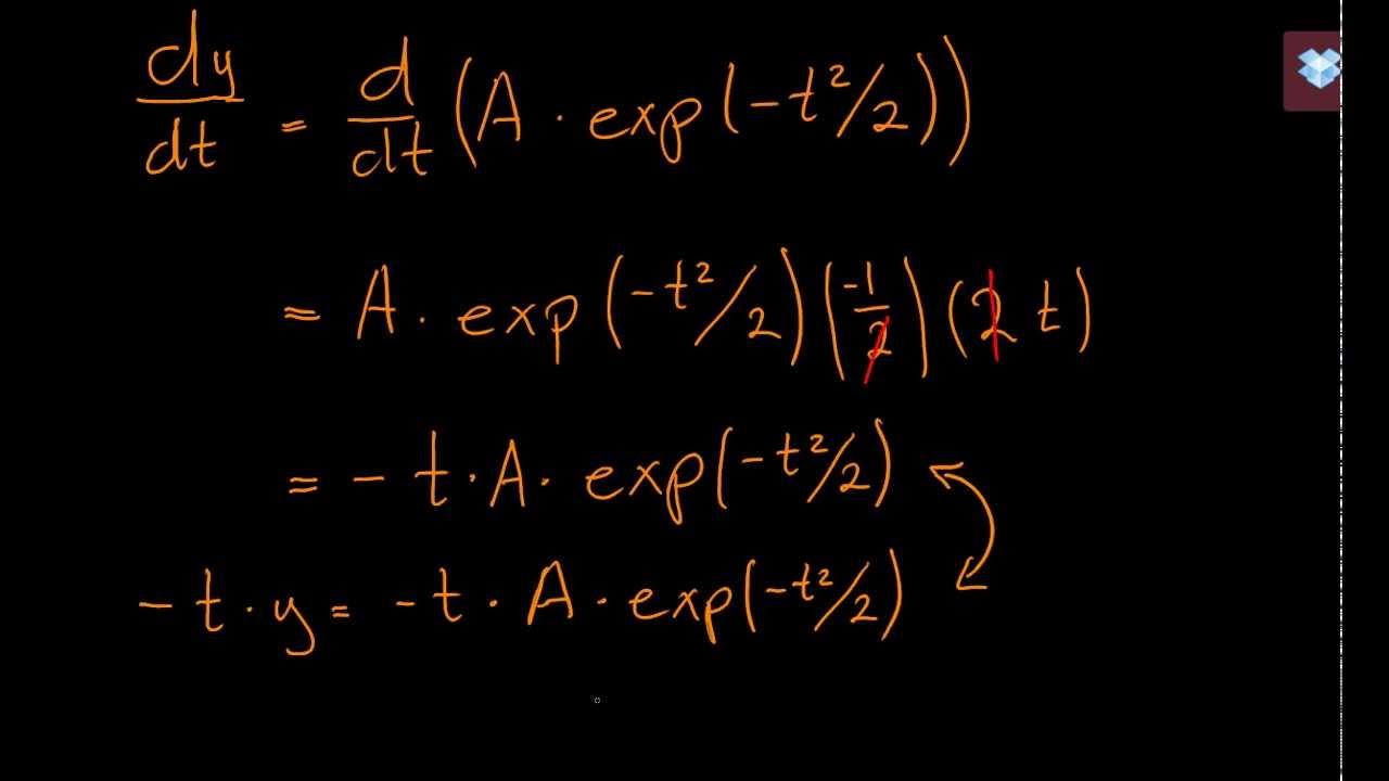 Tjekke løsning til en differentialligning