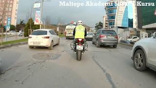 2018 Maltepe Motosiklet Direksiyon Sınav Güzergahı