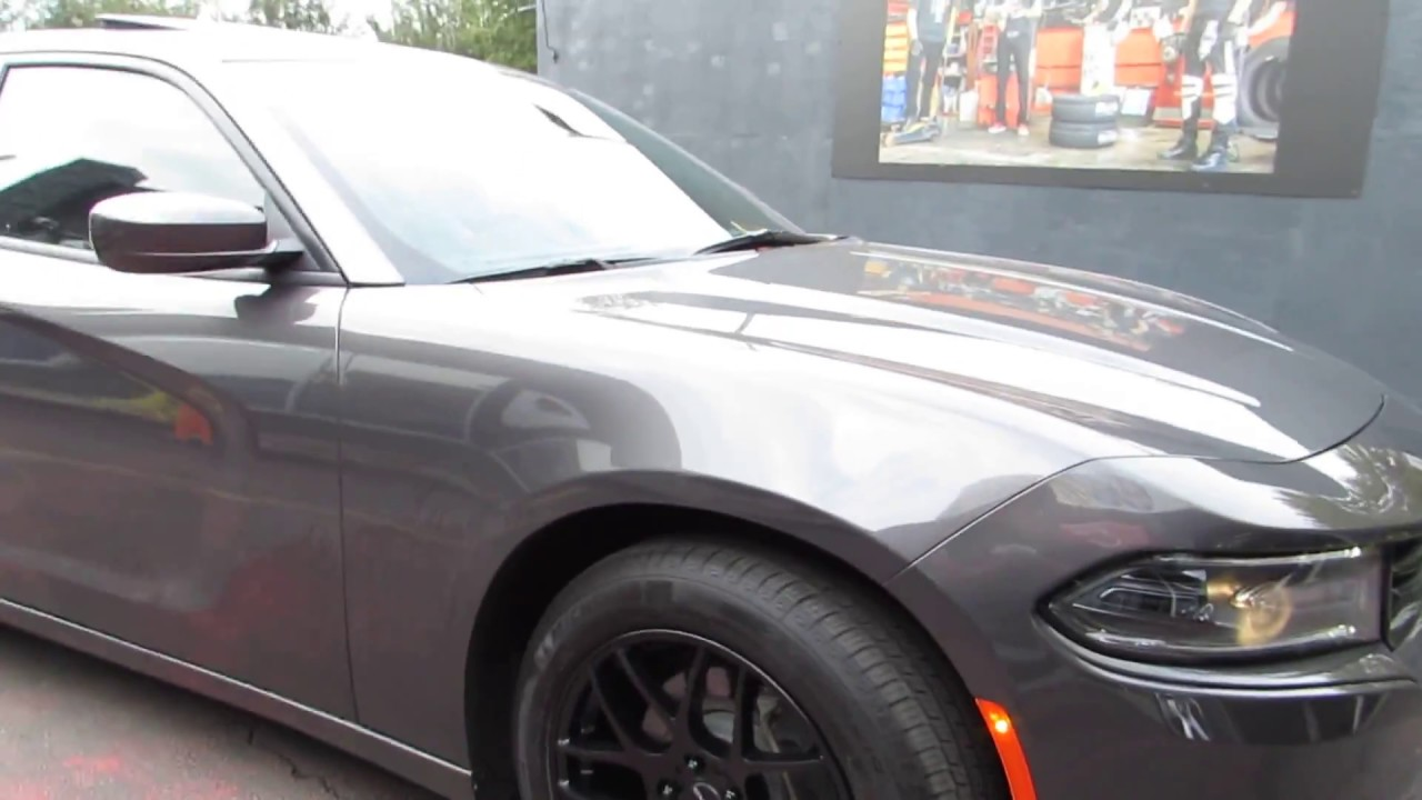 2016 Dodge Charger With 19 Inch Black Rims Tires