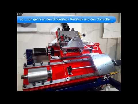 DIY CNC Lathe Montage der Führungen und Ober /Querschlitten...