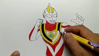 KEREN, menggambar Ultraman Gaia dengan mudah