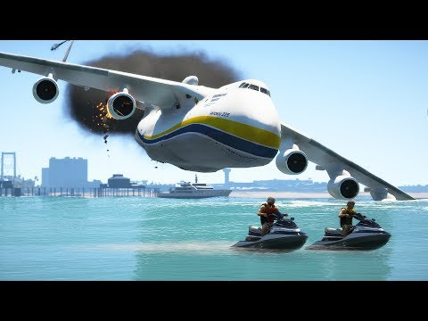 World's Biggest Plane (AN-225) Emergency Landing On Water | GTA 5