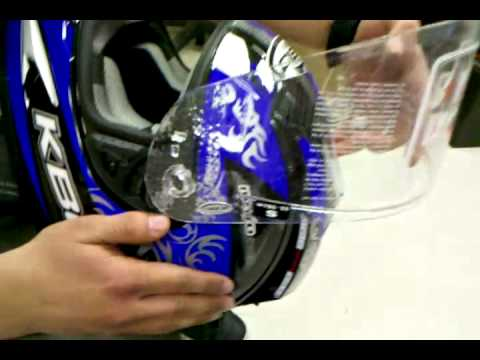 fb876437 KBC Force RR Visor Remove and Install - YouTube
