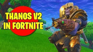 USING THANOS SKIN IN FORTNITE (Modded Skin)