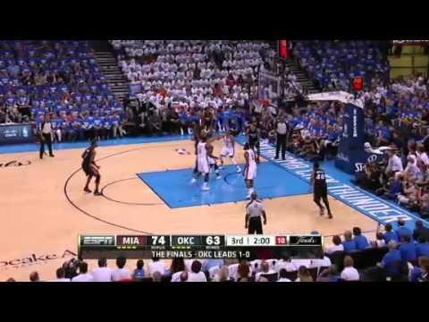 Oklahoma City Thunder Vs. Miami Heat Game 2 Recap NBA Finals (06/14/2012)