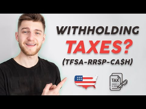 How Withholding Taxes WORK In TFSA, RRSP And Cash Accounts! - (Must Watch For ALL Investors)