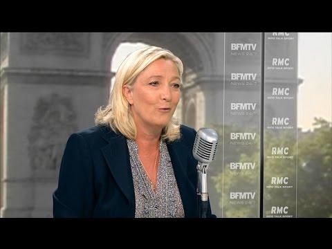 """Marine Le Pen: """"Le pauvre Jean Jaurès doit se retourner dans sa tombe"""" - 31/07"""