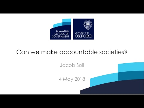 Can we make accountable societies?