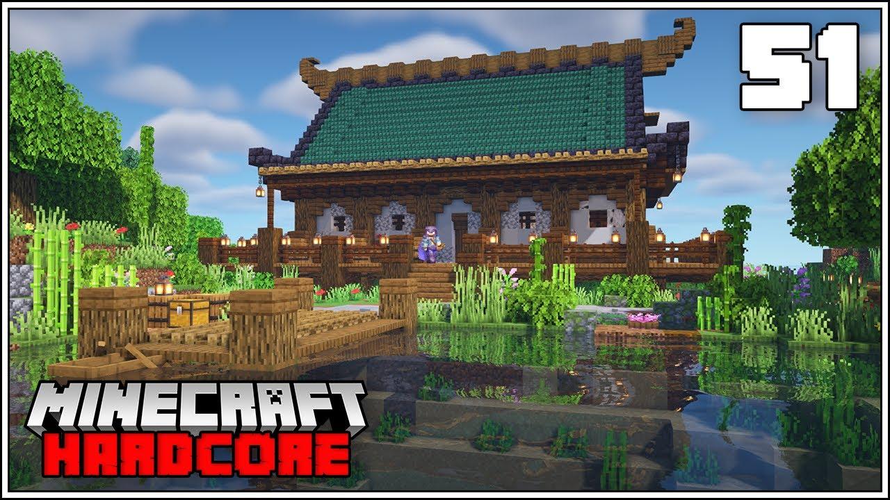 Minecraft Hardcore Let's Play - New Japanese Island Base - Episode 51