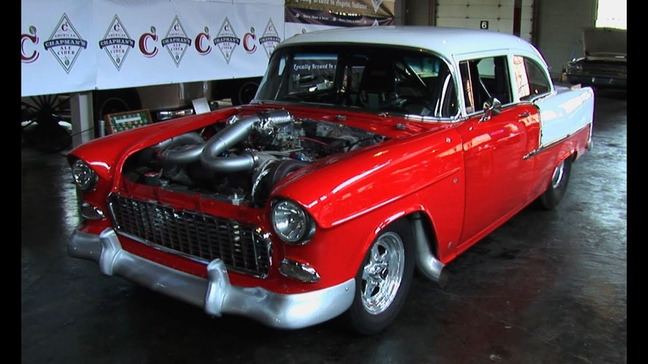Classic Car Wallpaper 57 Chevy 1955 Chevrolet Bel Air Twin Turbo 1100 Hp Street Car Youtube