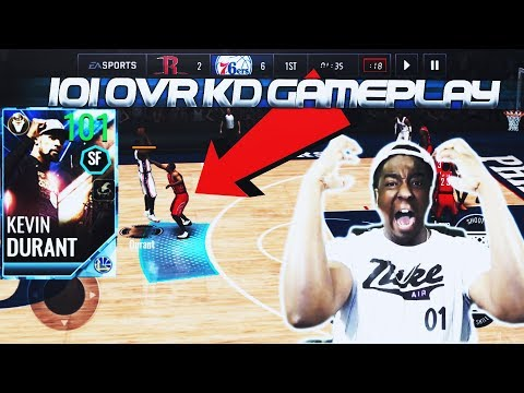 101 OVR FINALS MVP KEVIN DURANT IS THE BEST CARD EVER!!! NBA LIVE MOBILE 18 GAMEPLAY