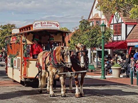 Solvang Ca Christmas.Solvang California Santa Claus Christmas Parade