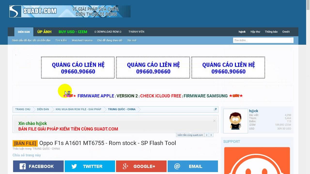 Unlock Oppo F1s A1601 - Method flash failed by Flash tool 100% ok