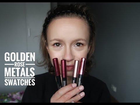 Swatches - Golden Rose - Metals Matte Metallic Lip Crayon