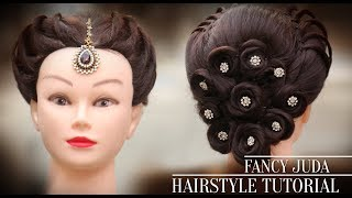 Fancy Juda | Latest Hairstyle 2018 | Step By Step Hair Tutorials For Girls | Pooja Goel | Khoobsurat