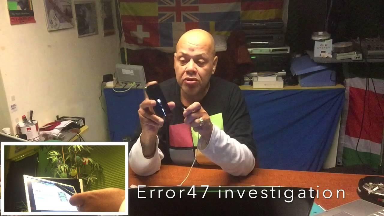 Error 47 Unclassified