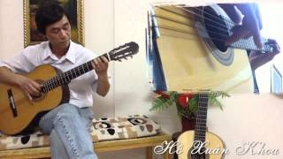 Guitar Semi Classic - wonderful tonight - Guitarist Xuân Khoa