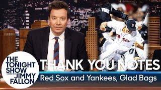 Thank You Notes: Red Sox and Yankees, Glad Bags