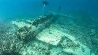 pictures Ghostly ocean floor graveyard of hundreds of ships and planes memorial for WWII