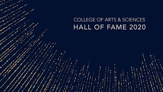 University of Kentucky College of Arts and Sciences Hall of Fame 2020 Induction Ceremony