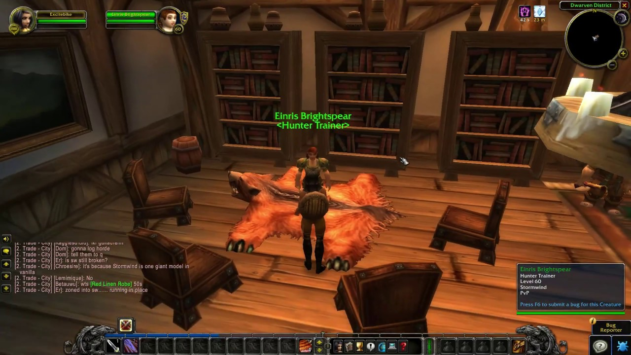 Stormwind Hunter Trainer Location Wow Classic Youtube