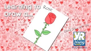 Teaching Kids How to Draw: How to Draw a Cartoon Rose