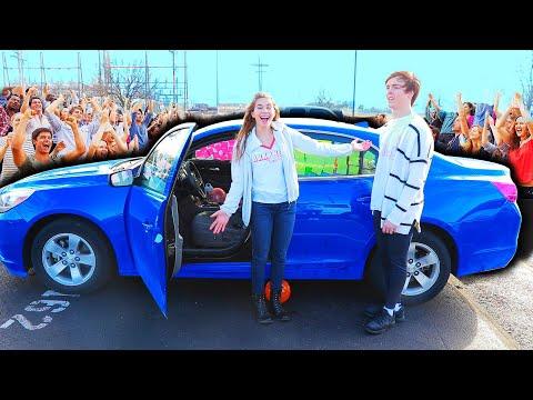 SADIE HAWKINS DANCE PROPOSAL!! (RIP HIS CAR)