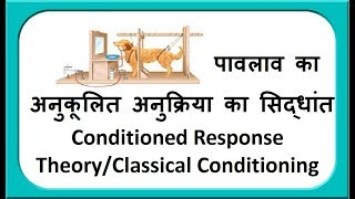 पावलाव का अनुकूलित अनुक्रिया का सिद्धांत Pavlov Conditioned Response Theory/Classical Conditioning