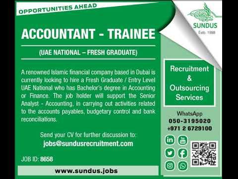 Trainee Accountant - UAE National