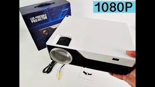 "M18 Native 1080p LED Projector - PS4/XBOX ONE on massive 300"" Screen"