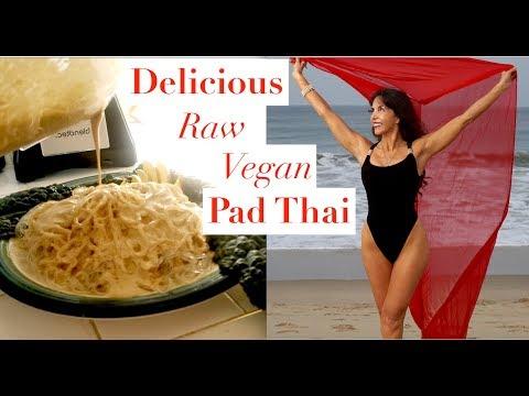 Raw Vegan Pad Thai Pasta | Healthy and Delicious | Sneak Peek at my New Dessert😍