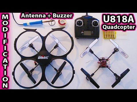 hqdefault udi u818a modifications antenna and buzzer mods quadcopter dji U818A HD at bakdesigns.co
