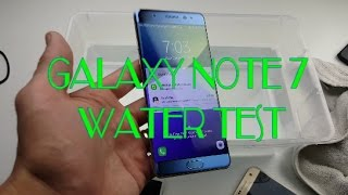 Galaxy Note 7 Under Water Touch Screen, Speakers, Iris & Charging Test