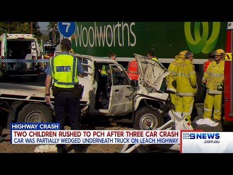 Leach Hwy Crash | 9 News Perth
