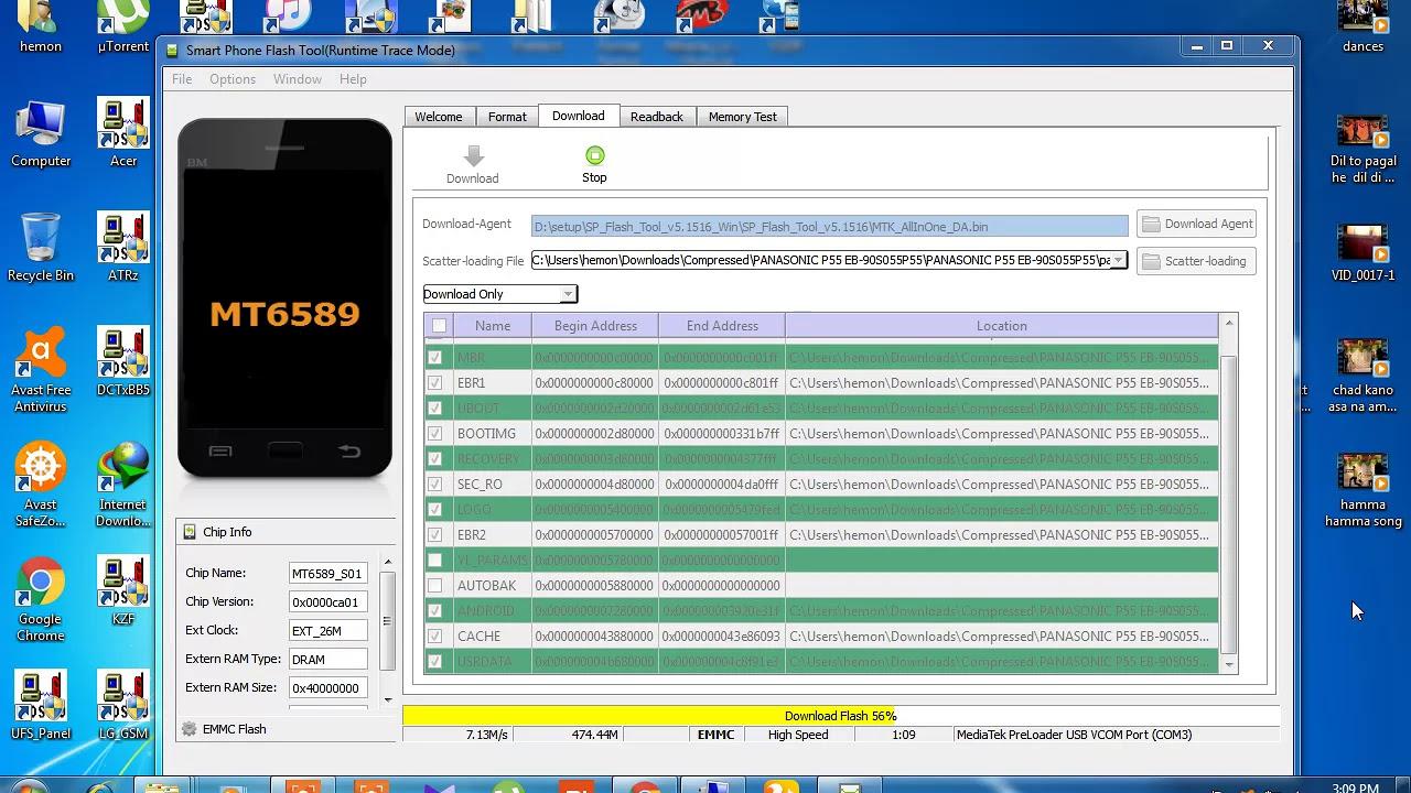 panasonic p55 EB-90S055P55 flashing 100% done - - vimore org