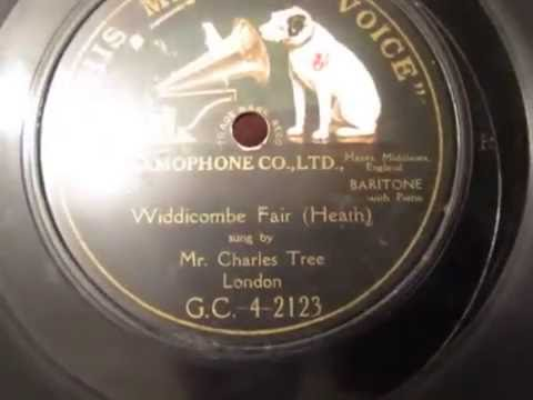 Widecombe Fair - Charles Tree - Baritone - Uncle Tom Cobbley - 78 rpm - HMV 102