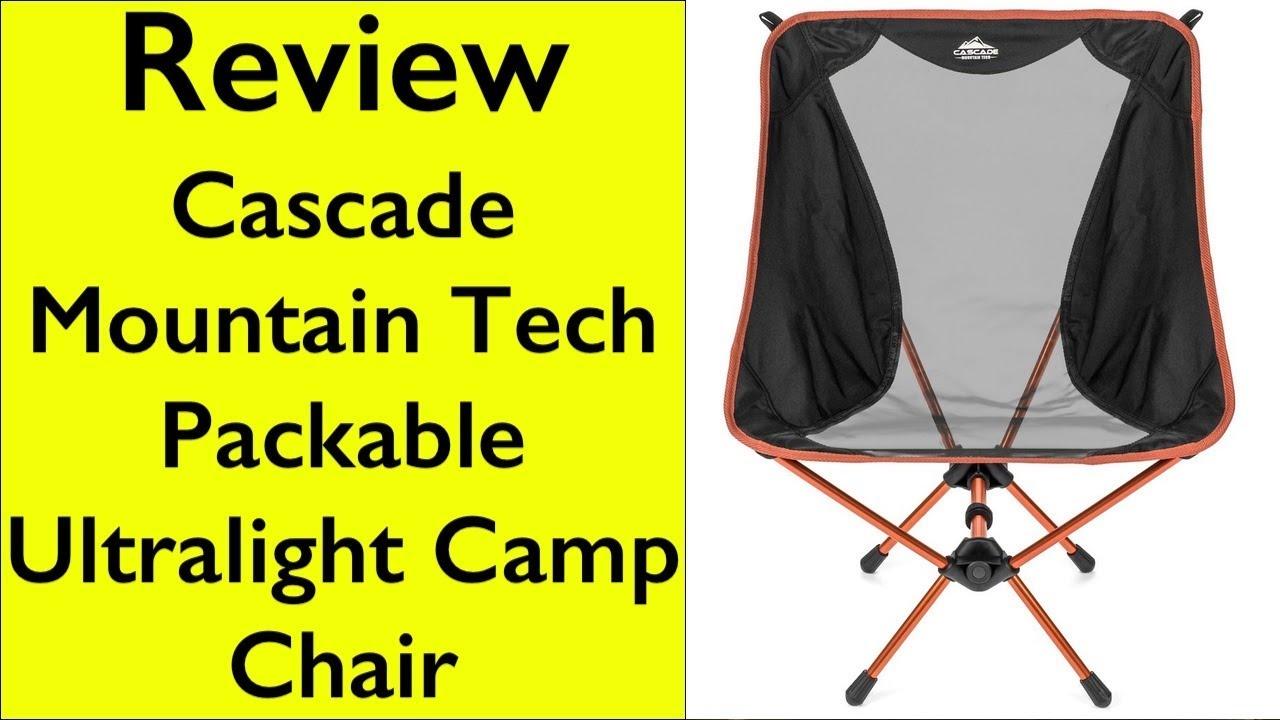 Review Cascade Mountain Tech Ultralight Packable Camp Chair