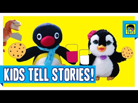 Stories BY KIDS FOR KIDS | Story Written and told by kids | Pingu Penguin & The Good Dinosaur Toys