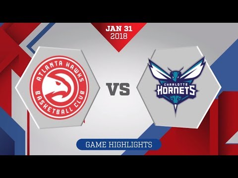 Charlotte Hornets vs. Atlanta Hawks - January 31, 2018