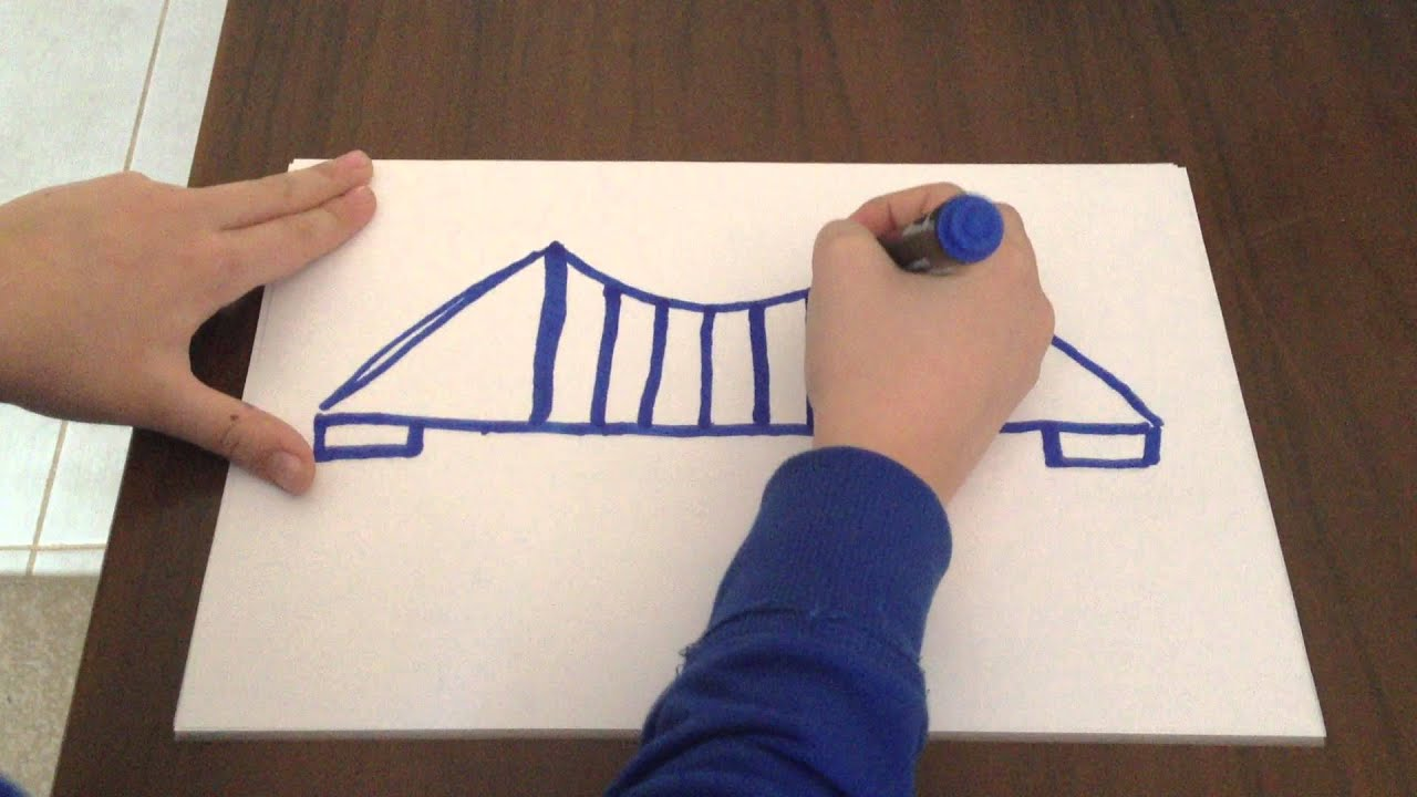 How To Draw A Bridge Easy Method