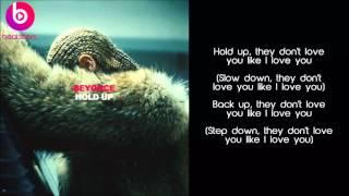 beyonce hold up lyrics male voice