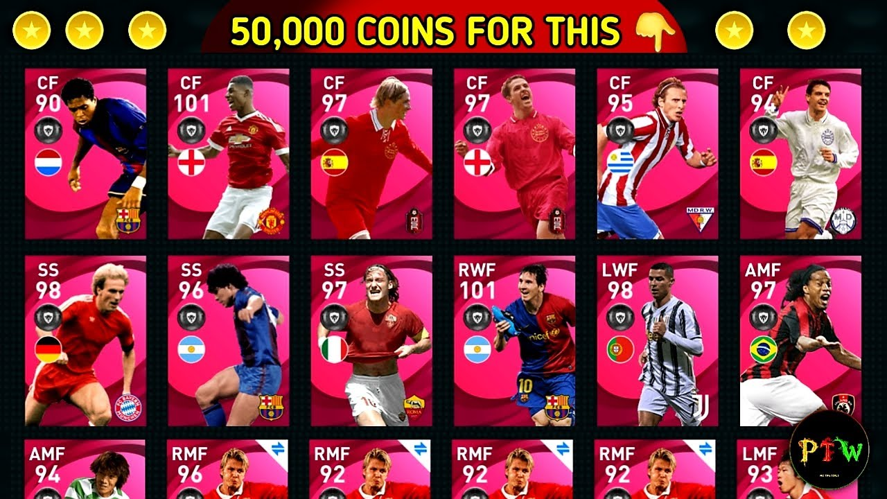 😨50000 Coins I Spend On My Main Pes Account || Pes 2021 Mobile || Free Rewards Pack Opening ||