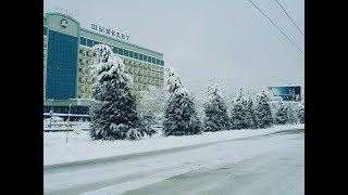 1 декабря пришла зима в Чимкент, Шымкент