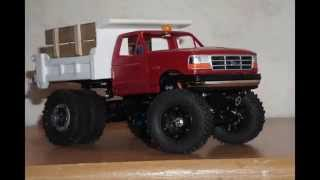 Losi 1/24 micro crawler custom scale ford dump truck build update